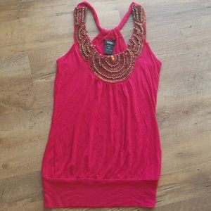 Vanity Pink Red Tank Top   Size XS